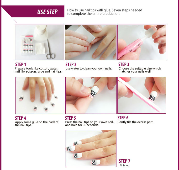 Different kinds of french nails