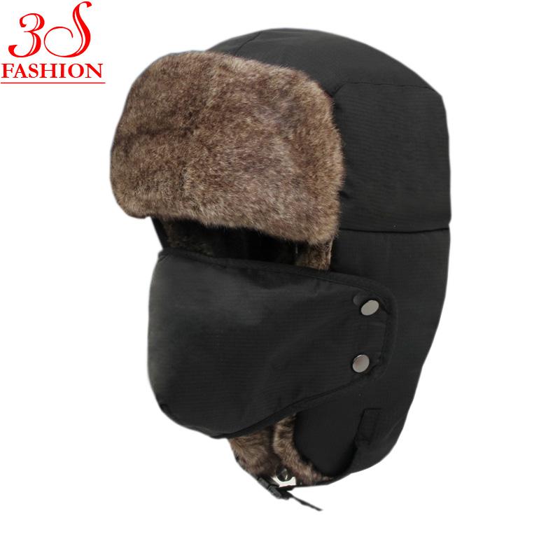 Buy Hot Sale Bomber Hats Ushanka Russian Hat Fur Winter Hats sports snow  outdoor aviator ear flaps cap for men amp women Hats001 in Cheap Price on  ... 047d1901219