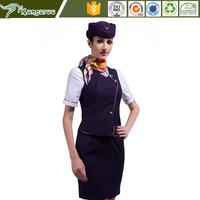 2016 Wholesale Women Professional Slim Airline Stewardess Uniforms