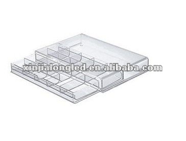 82754 Water Clear Stackable Acrylic Drawer Acrylic Cosmetic Organizer Acrylic Jewelry Case With Dividers With One Drawer