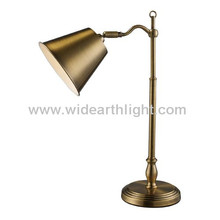 UL Listed Retro Style Antique Brass Metal Classic Banker Lamp With Adjustable Shade T80280