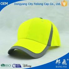 professional cap and hat factory custom Fluorescent Reflective Safety Hats/Reflective Cap