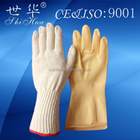cotton knit long protective gloves