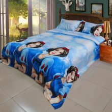 Hot selling 100% cotton high quality printed 4pcs bedding set/cartoon bedsheet for children