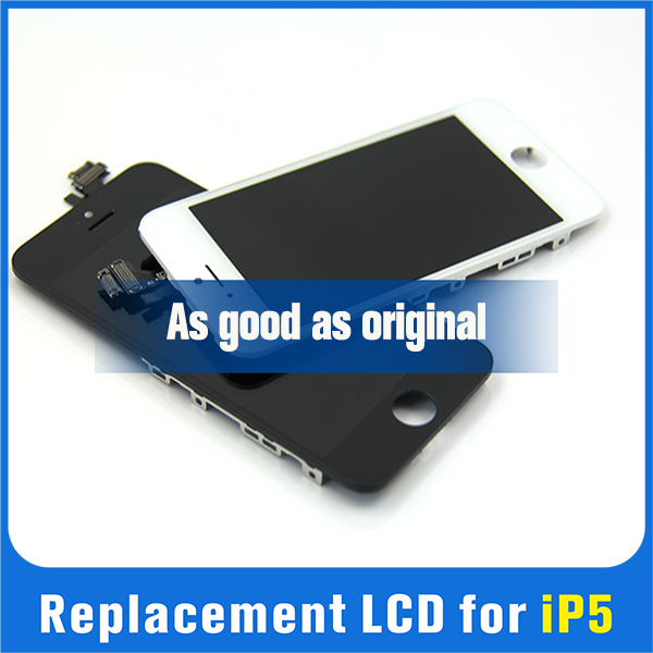 factory price LCD screen display for iphone 5,for apple iphone 5 lcd display touch screen digitizer