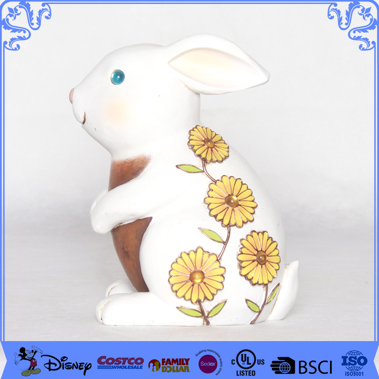 Competitive Price Garden Ornament Statues Rabbit Polyresin Figures