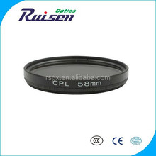 CPL camera lens optical filter