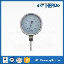 SS bottom molten metal liquid use bimetal dial type thermometer