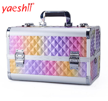 yaeshii aluminum makeup case fashion cosmetic vanity case box