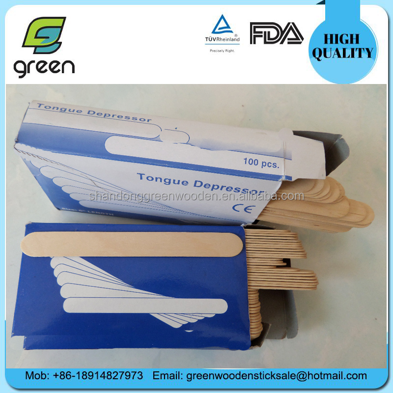 Medical Disposable Sterile WOOD Tongue Depressor With paper Box