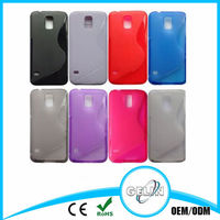 S Line Transparent Frosted Plastic + Anti-skid TPU Case for Samsung Galaxy S5 / i9600
