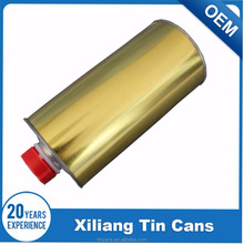 200ml round brake fluid tin can with plastic lids