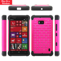 New Arrival Phone Case/Cover For Nokia N929 Diamond Studded Lattice Hybrid Dual Layer Case Skin Cover