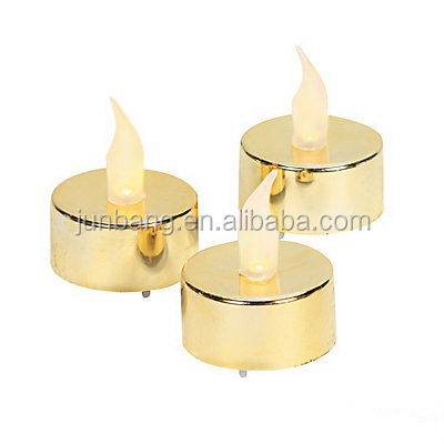 Metallic Battery-Operated Tea Lights/Metallic Christmas Led Tealight Candles/Electric Candles