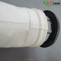 Good air permeability polyester PET dust collection filter bag dealing with the exhaust in electrolytic aluminum fume