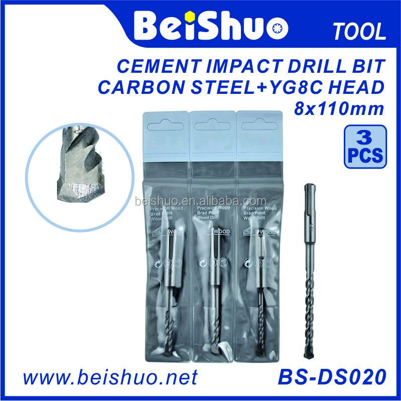 Power tool High quality YG8C Head Carbon Steel Cement Impact Drill Bit
