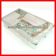plastic long boots storage box with lid and metal edge bonding