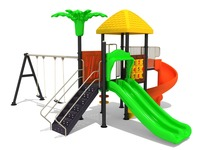 kids plastic toy slide and swing sets/childrens outdoor slides games