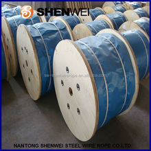 wooden reel packed wire rope