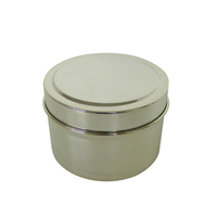 Round Aromatherapy scented candles tin box tin can