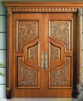 luxury double entry door with sidelites and top transoms exterior glazed wood door