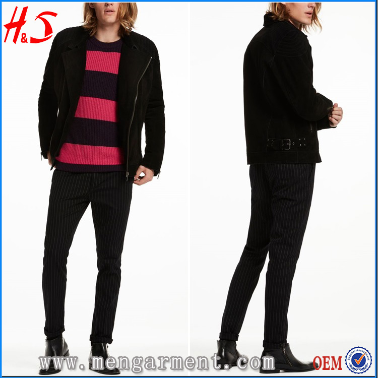 Wholesale Clothing High Quality Leather Jacket Men Winter Wear Biker Jacket