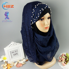 Zakiyyah FX067 Lace Fabric Dress Viscose Scarf XL Long Hijab