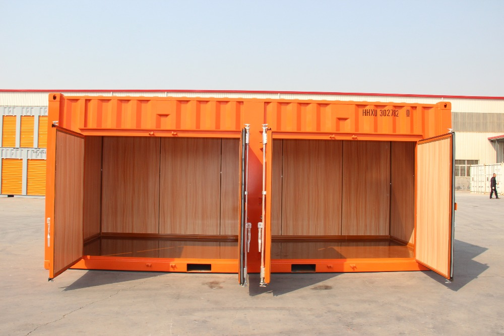 Huwu 20' open side decorate storage container multi door container
