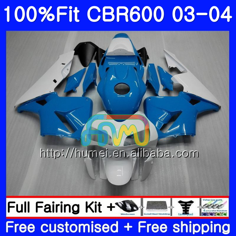 Injection For HONDA CBR 600RR F5 CBR600 RR 03-04 11HM100 blue white CBR600RR F5 03 04 CBR600F5 CBR 600 RR 2003 2004 Fairing kit