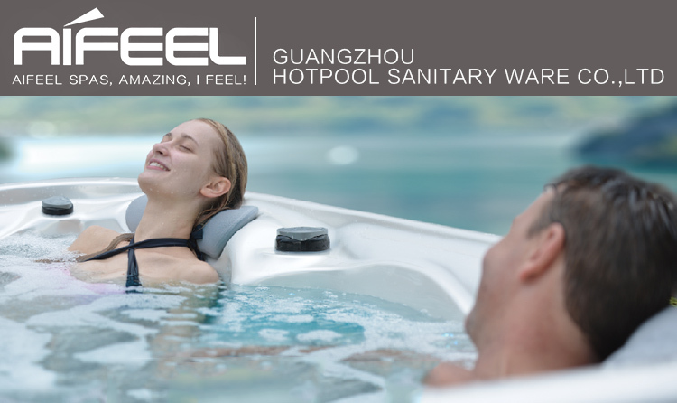 2017 new hot sale 5 persons balboa music system freestanding acrylic whirlpool massage hydro spa outdoor hot tub