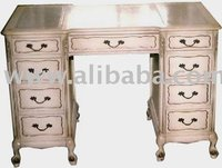 French Writing Desk 9 Drawers