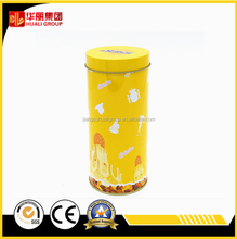 Cosmetic round tin box for chocolate powder packing