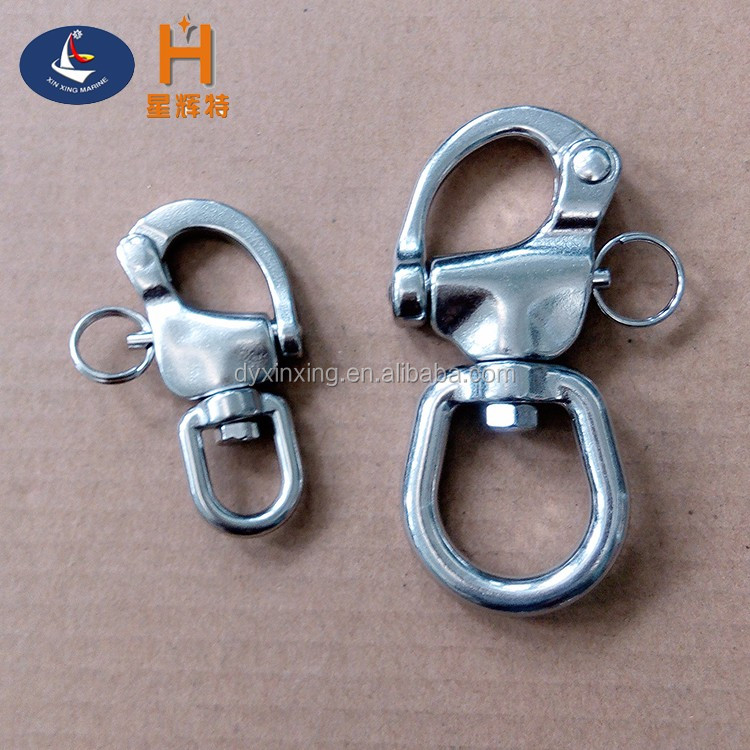 Wholesale high quality stainless steel marine eye swivel snap shackles