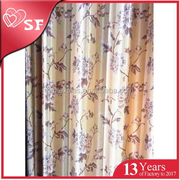 China supplier ready made jacquard blackout window curtain for home decoration