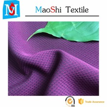 FDY check design 150D polyester twill 4-way spandex fabric for lady's garment in fashion