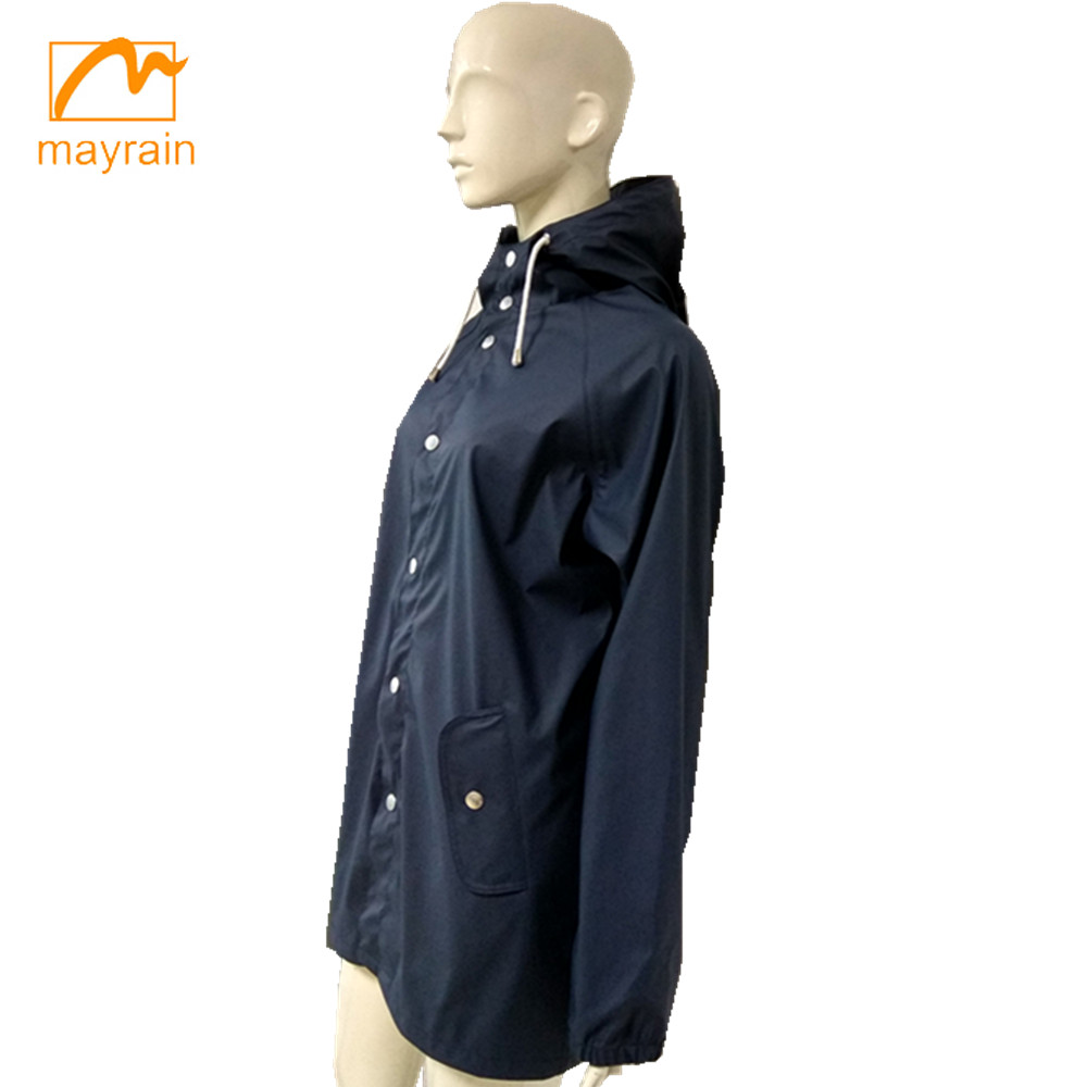 rain jacket ,fashion PU raincoat breathable pu raincoat
