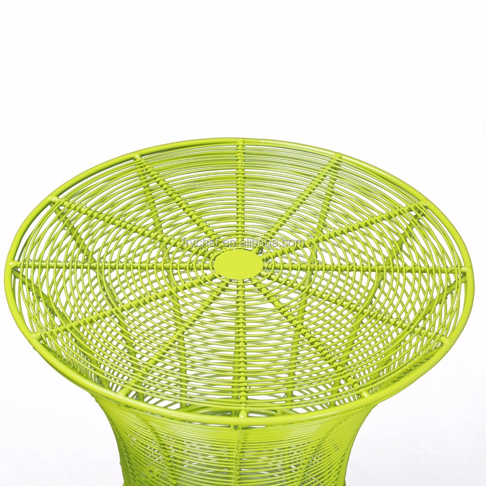 Round Starburst End/ Side/ Tea Table, Iron Wire Weave Netting, For Outdoor Garden Patio