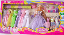 Girl play set cute dolls for sale 11.5 inch include cloths beauty doll set fashion girl doll set