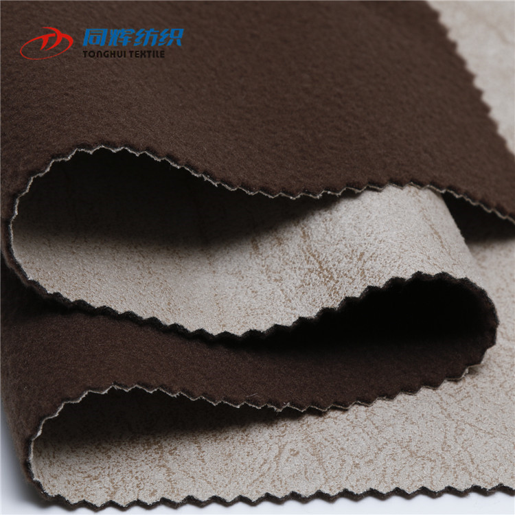 Color Customized Hot Stamping 100% Polyester Waterproof Faux Suede Fabric, Suede Fabric For Sofa
