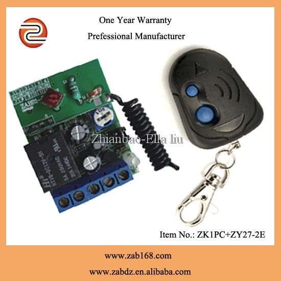 ZK1PC+ZY27-2E,Low price,Mini size,80M,wireless 12V electronics remote control switch,1CH,Fixed code,inter-lock function.