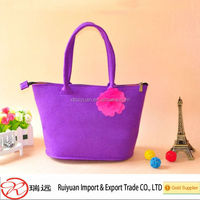 High class attractive ladies handmade felt handbags hand carry bags