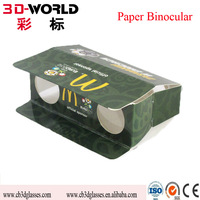 Promotional Disposable Foldable Paper Cardboard Binocular
