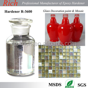 Yellowing resistance UV resistance Glass paint Epoxy hardener R-3600