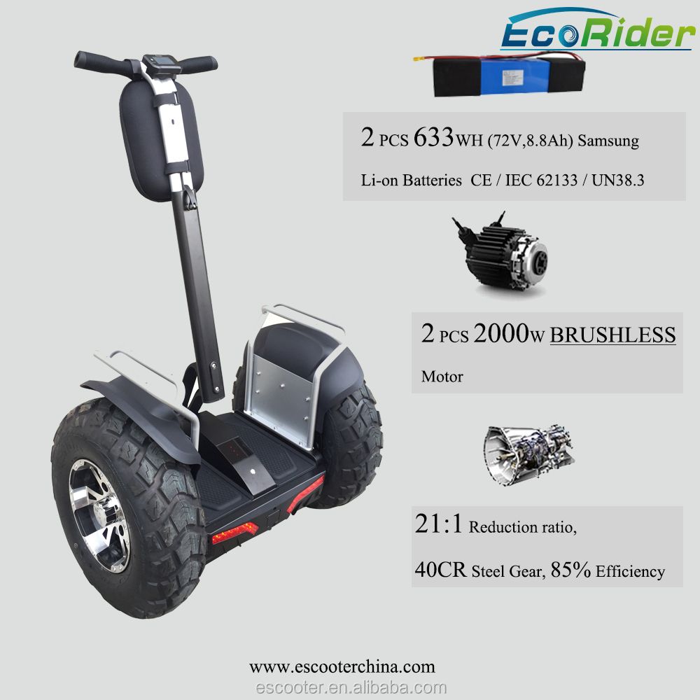 21 Inch Big Fat Tire Off Road 2 Wheel Electric Standing Scooter/Double Battery Brushless 4000W Motor 2 Wheel Electric Scooter