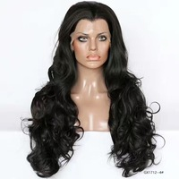 Classic thick heathy ends 100% natural real colorful non-glue unprocessed synthetic human hair wigs full lace