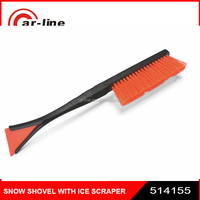 "514155 18"" short handle promotion snow brush with ice scraper"
