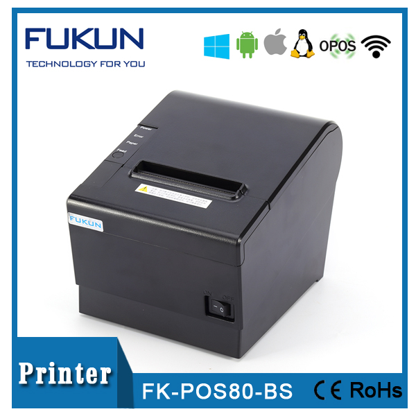 Great responsible manufacture cashier receipt printer with long life printhead and durable cutter in 250mm/sec FK--POS80BS