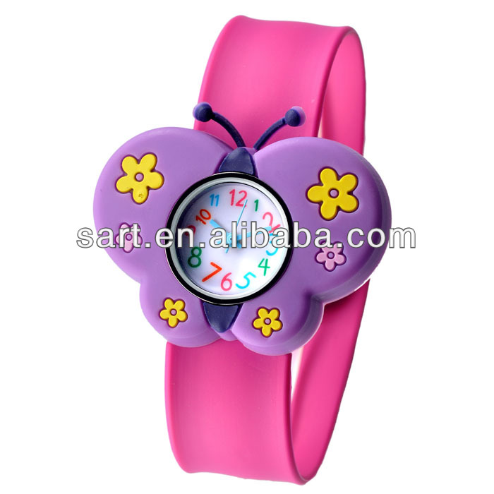 hot sale Europe and America eco-friendly silicone Children's Day gift quartz slap watch
