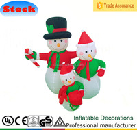 4 FT Christmas Inflatable Snowman Family Lighted Outdoor Balloon Decoration