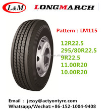 10.00R20 11.00R20 longmarch factory truck tyres for sale